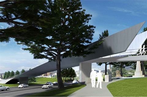 Bridge over the Tasman Highway artist's impression 2.jpg